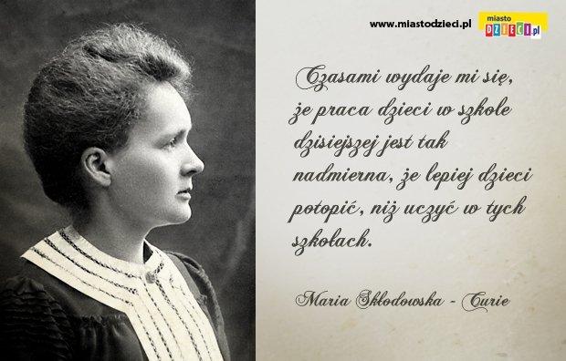 Maria Skłodowska O Nauce I Dzieciach