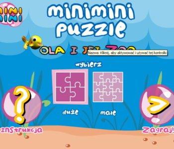 Puzzle Ola i jej zoo – gra online dla dzieci