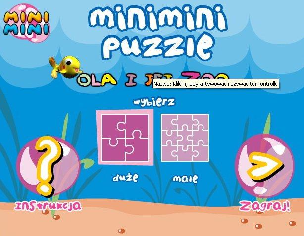 Ola i jej zoo puzzle online dla dzieci online