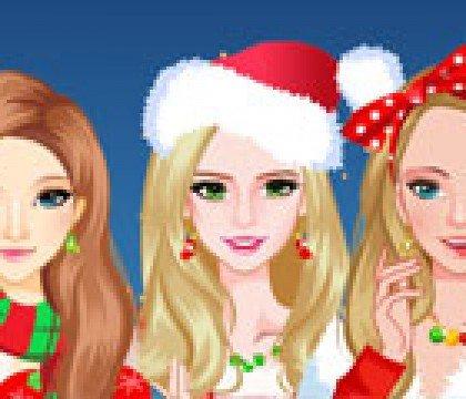 Nowoczesne świąteczne dziewczyny