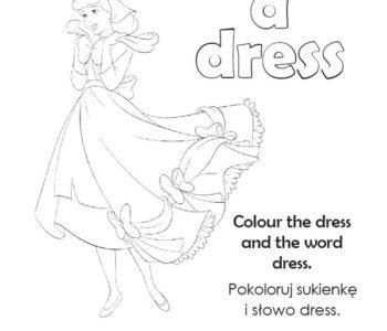 Sukienka do kolorowania