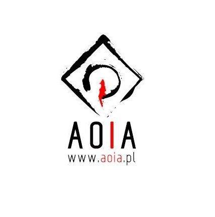 Akademicki Ośrodek Inicjatyw Artystycznych - logo białe