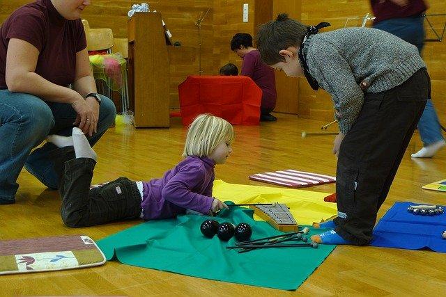 dzieci, instrumenty, muzyka