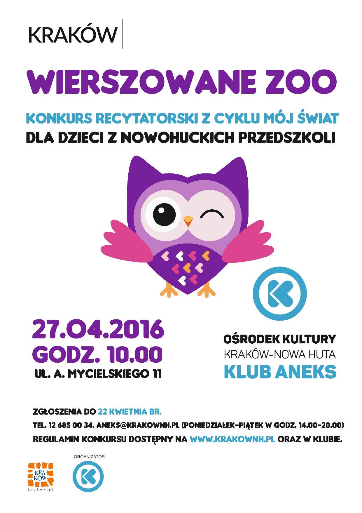 konkurs recytoatorski dla przedszkolaków w Krakowie