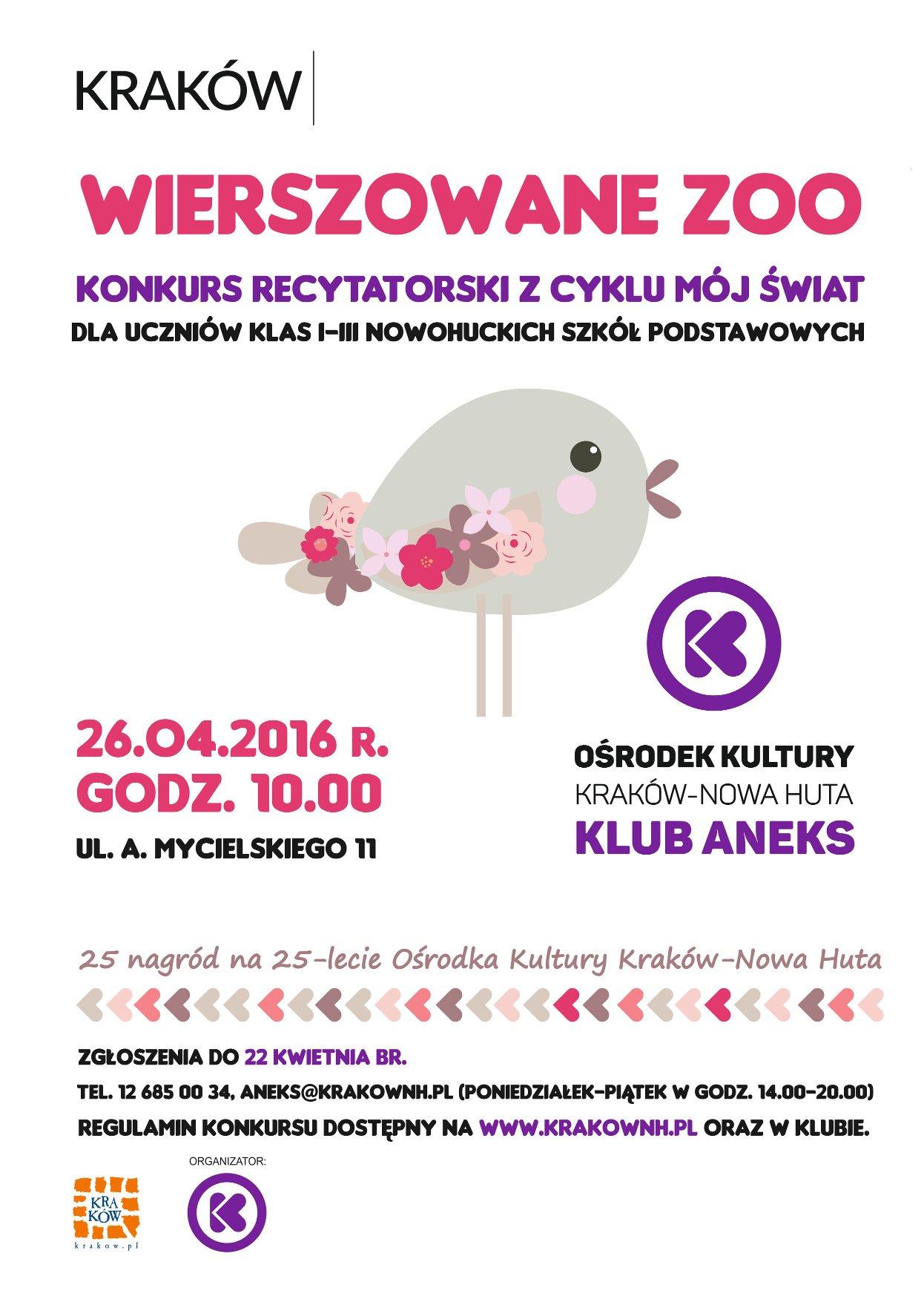 recytatorski konkurs dla uczniów w Krakowie