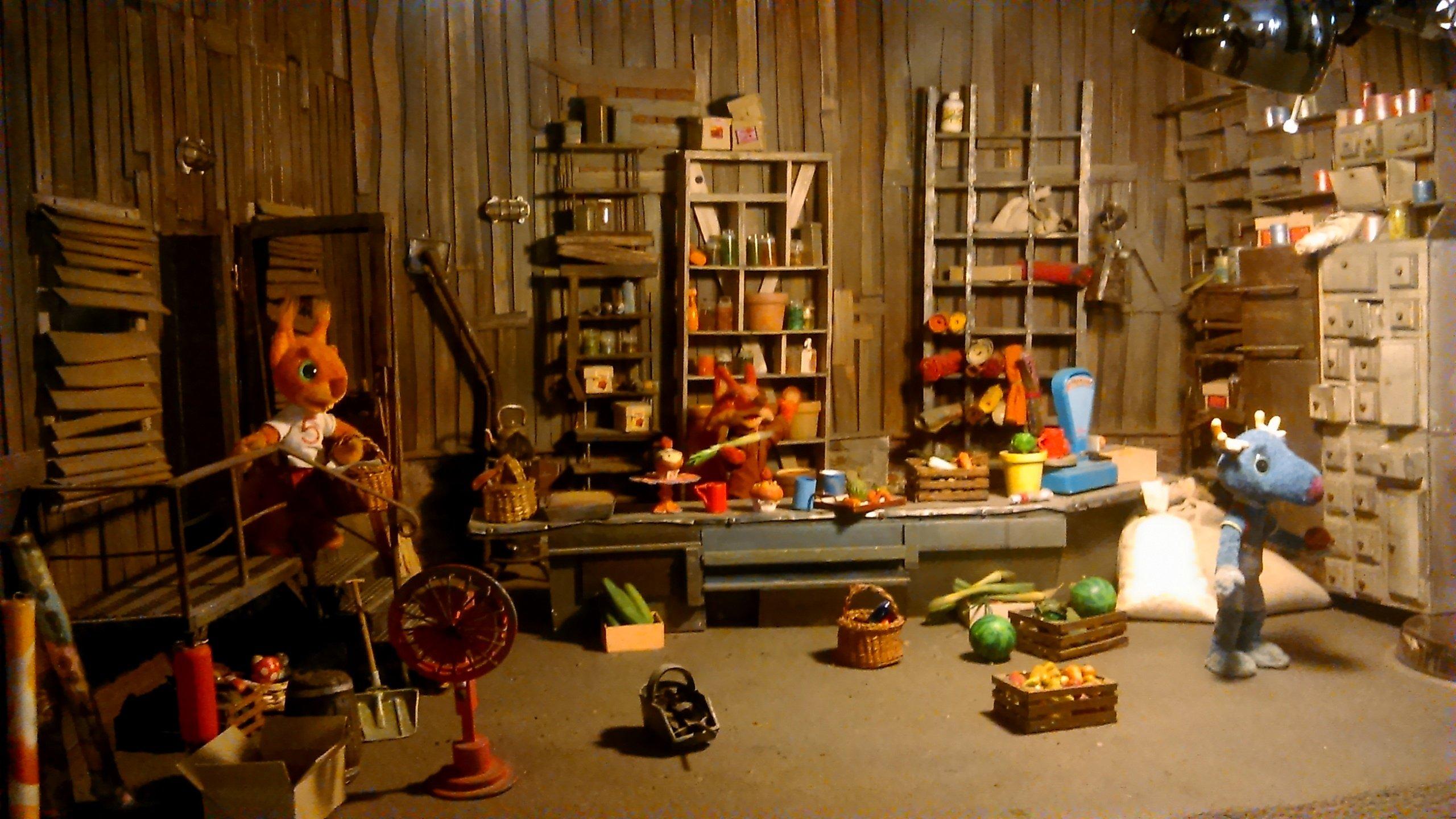 Sklep Lisa z filmu Parauszek i przyjaciele w Muzeum Animacji Se-Ma-For