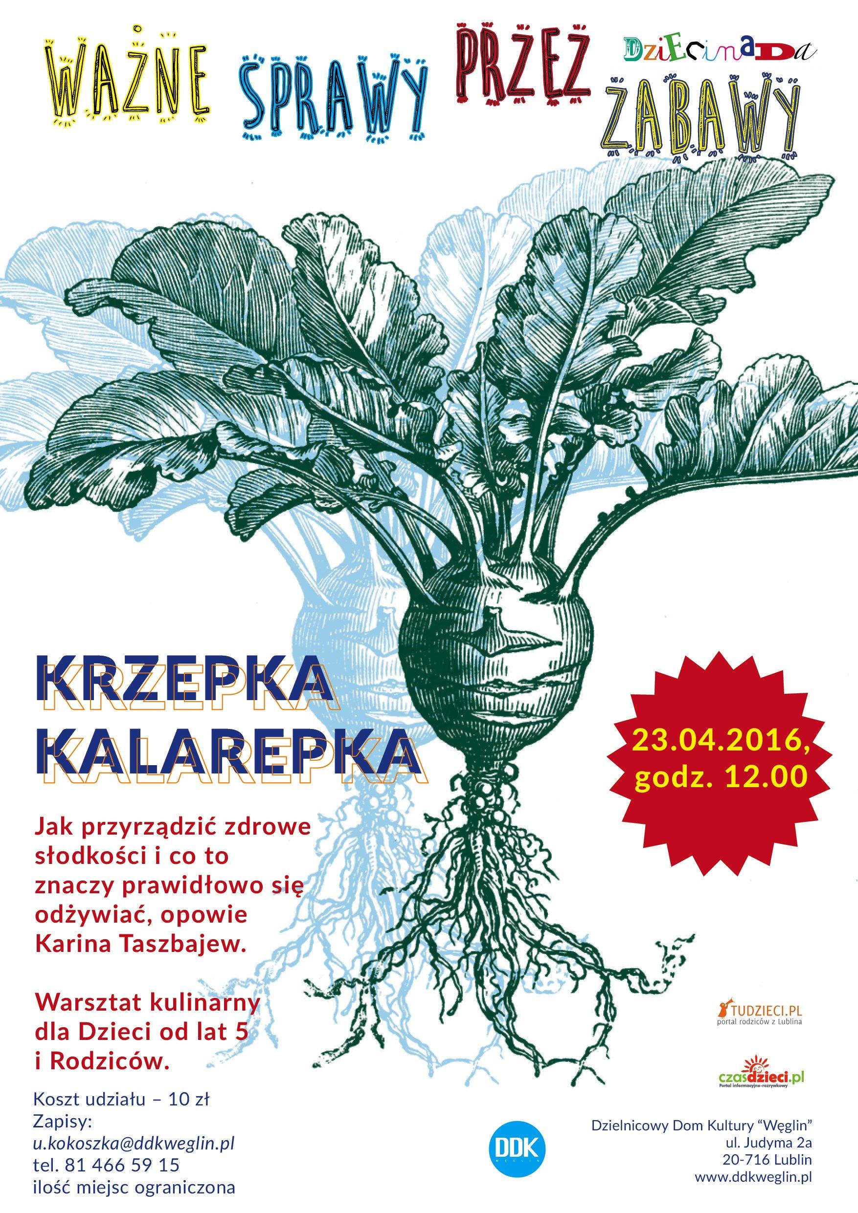 Krzepka kalarepka - zajęcia dla dzieci w Lublinie