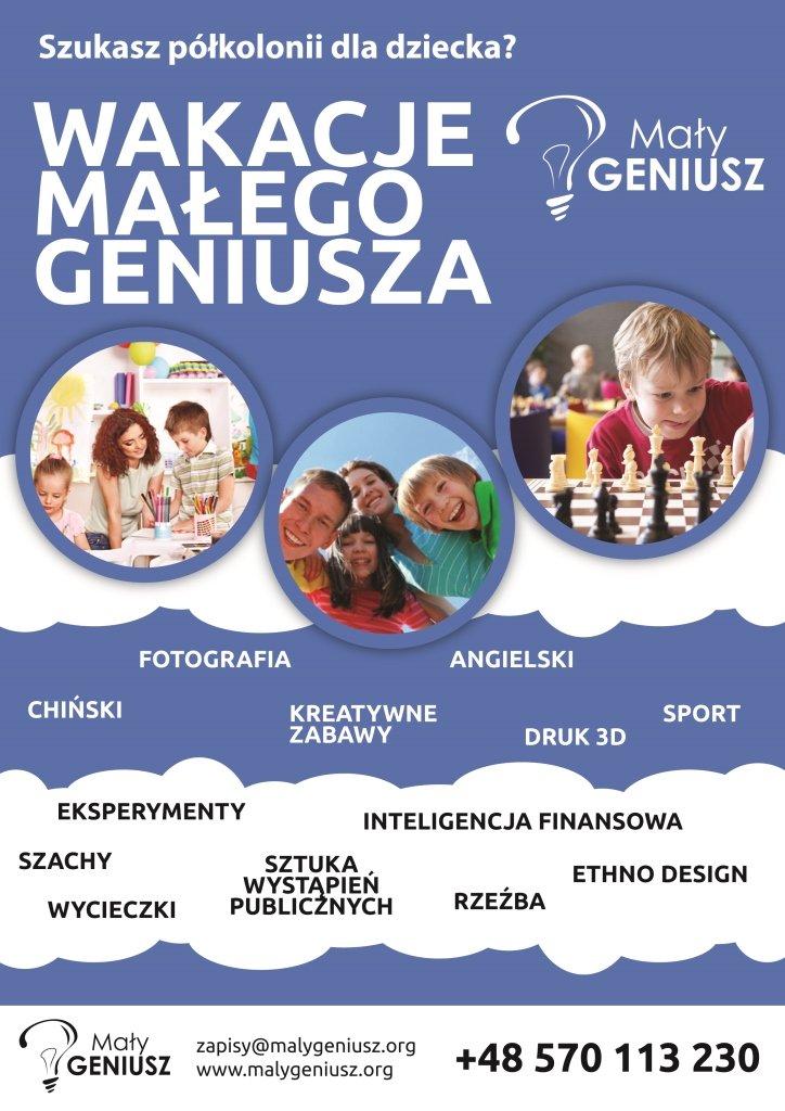 Mały-Geniusz-półkolonie-plakat.