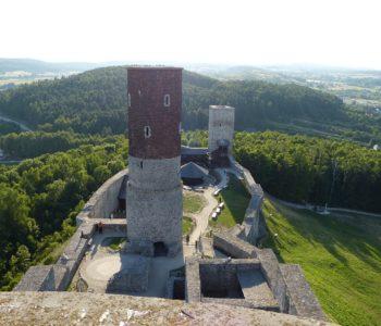 Zamek w Chęcinach - widok panoramiczny