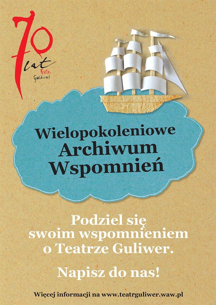 guliwer-archiwum-plakat teatr Warszawa dziecko rodzina