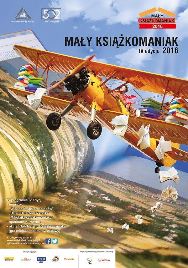 Plakat akcji Mały Książkomaniak 2016