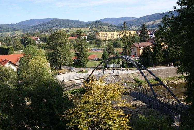 Most - platforma widokowa w Węgierskiej Górce