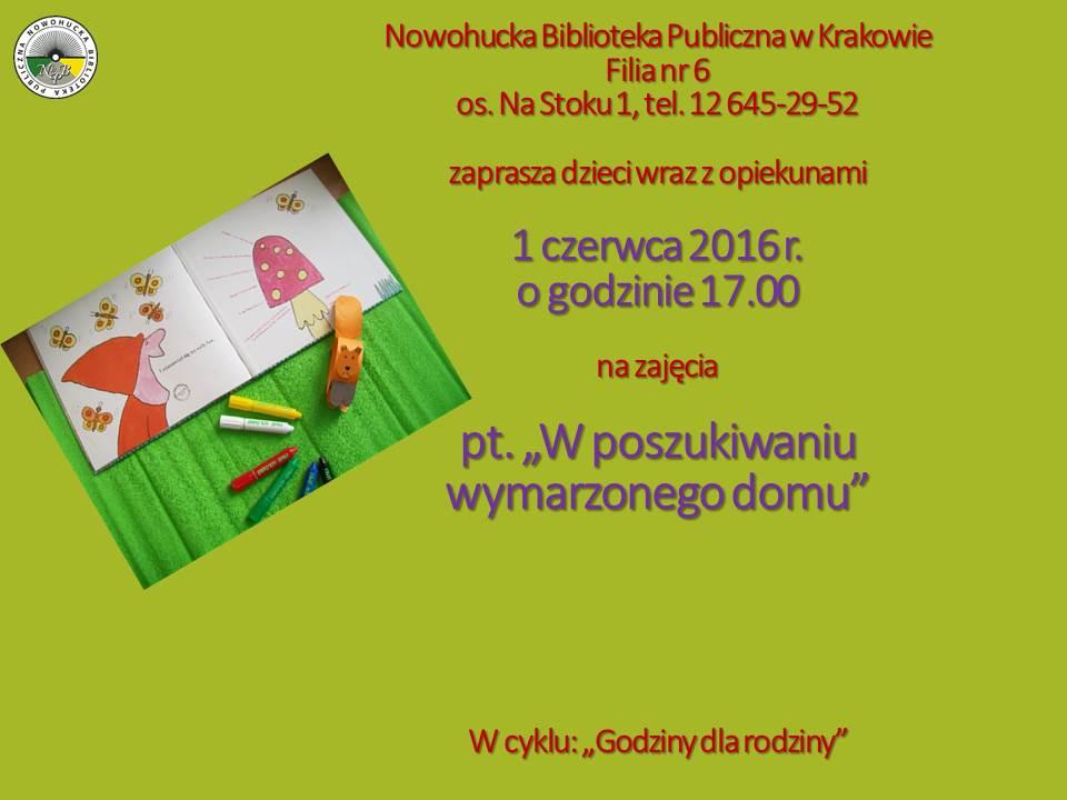 Dzień dziecka w Nowohuckiej Bibliotece Publicznej