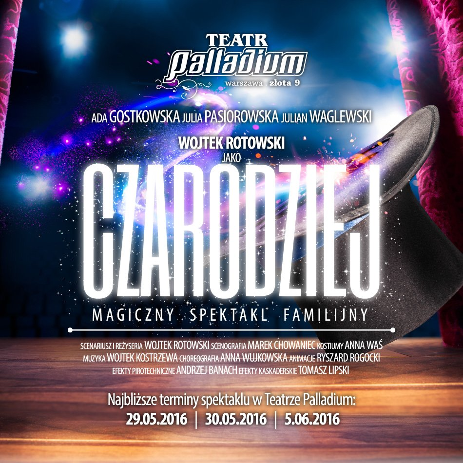 teatr Aplladium CZarodziej, spektakl dzien Dziecka