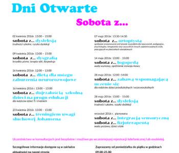 DNI OTWARTE CWRO sobota z dysleksją Warszawa Poradnia