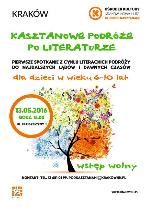 podróze literackei dla dzieci w Krakowie