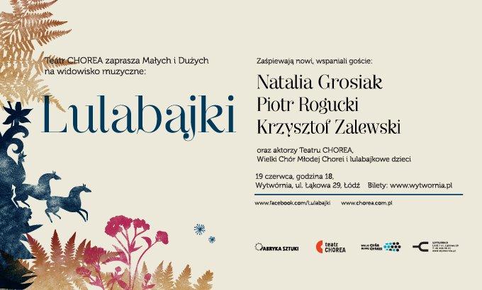 Plakat koncertu Lulabajki w Klubie Wytwórnia