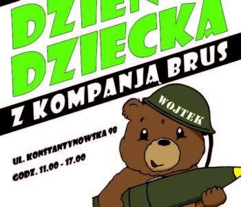 Plakat imprezy Dzień dziecka z Kompanją Brus