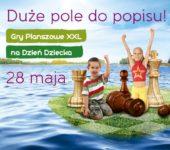 Dzień Dziecka w wielkim formacie - gry planszowe w wersji XXL w Galerii Nad Jeziorem w Koninie