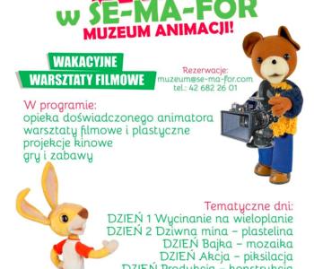 wakacyjne warsztaty filmowe sma muzeum animacji