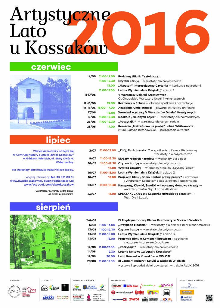 Artystyczne Lato u Kossaków plakat