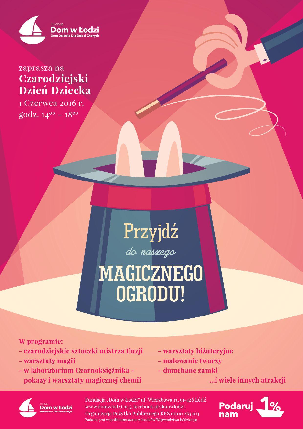 Plakat Dnia Dziecka z Fundacją Dom w Łodzi