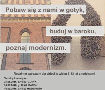 plakat_warsztaty architektoniczne dla dzieci warszawa bielany