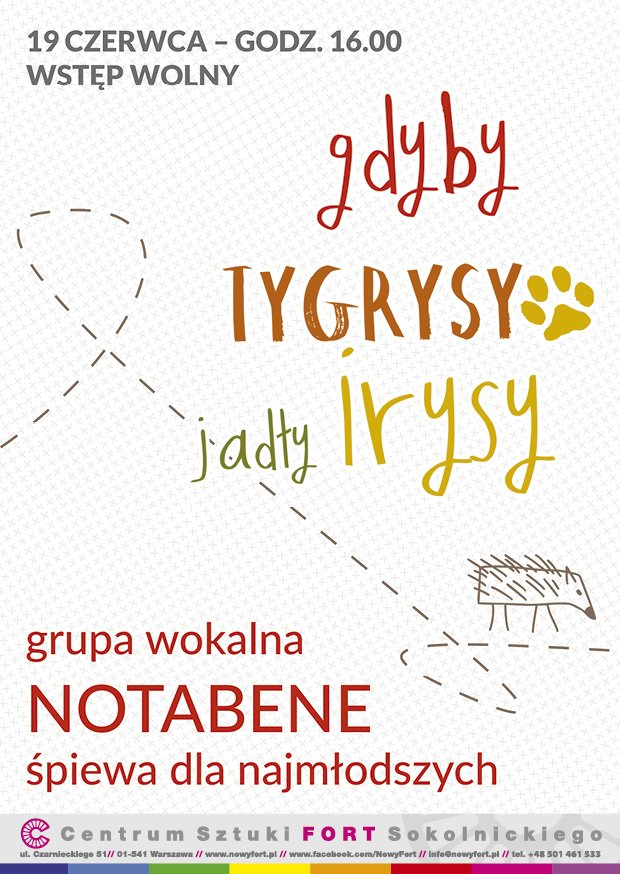 Plakat Notabene koncert dla dzieci