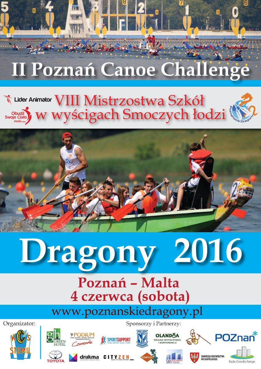 Dragony 2016 i 2. Poznań Canoe Challenge