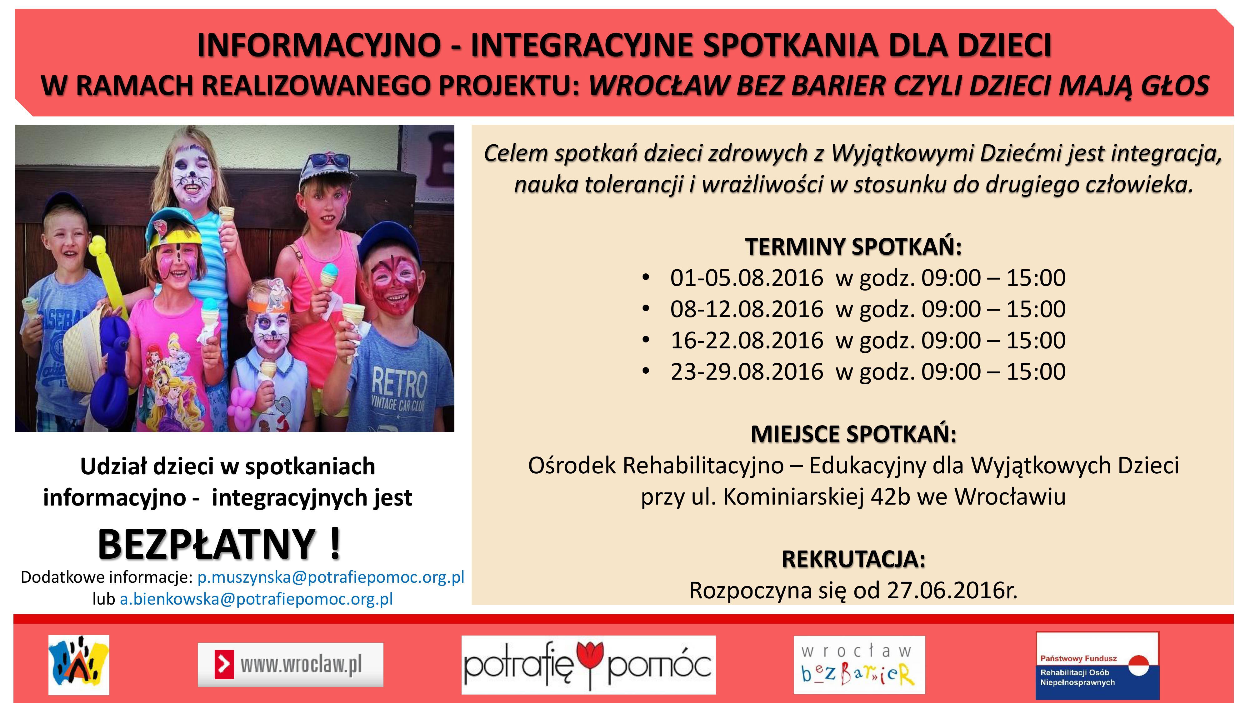 Plakat spotkań informacyjno - integracyjnych