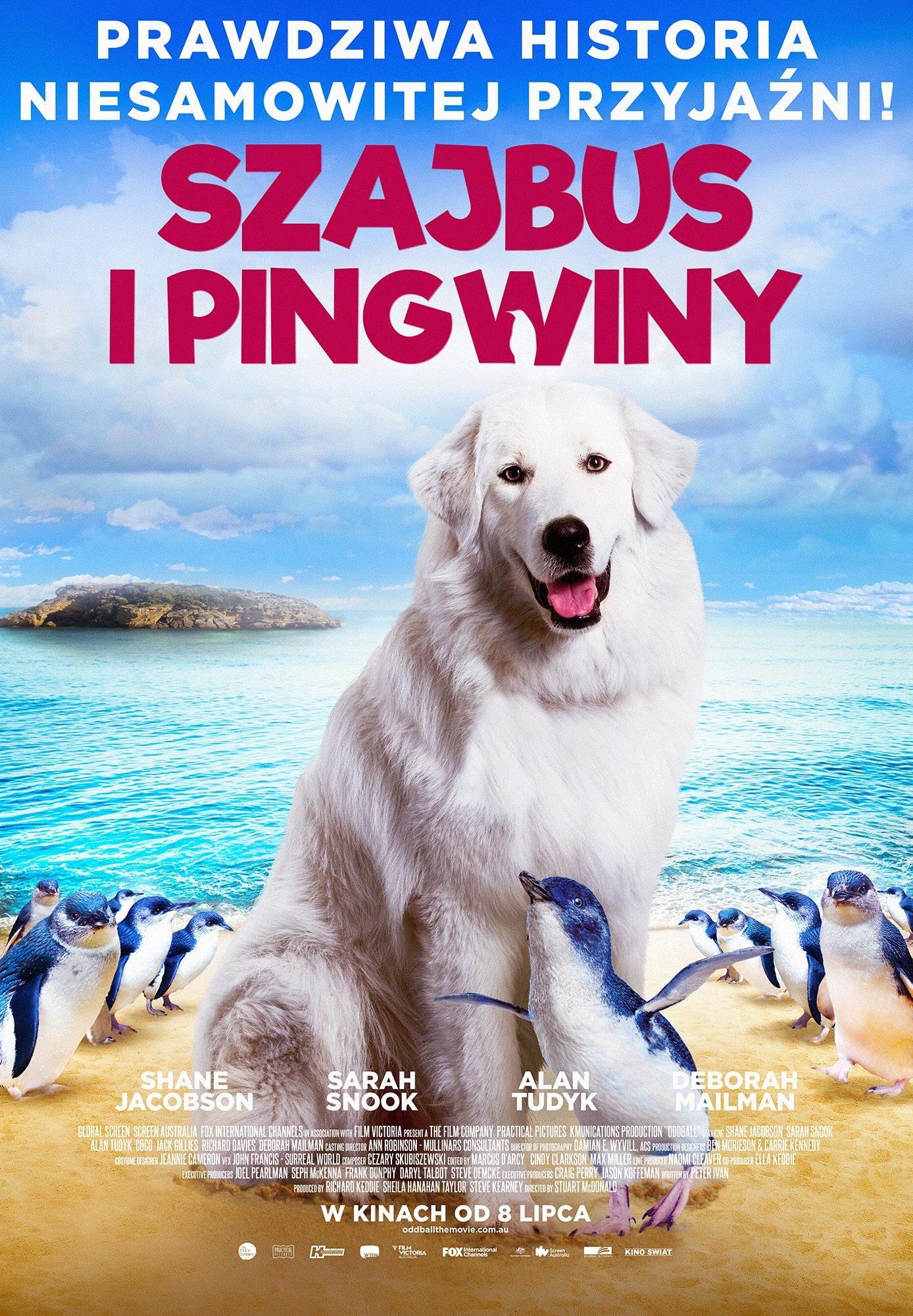 Szajbus i pingwiny plakat film dla dzieci