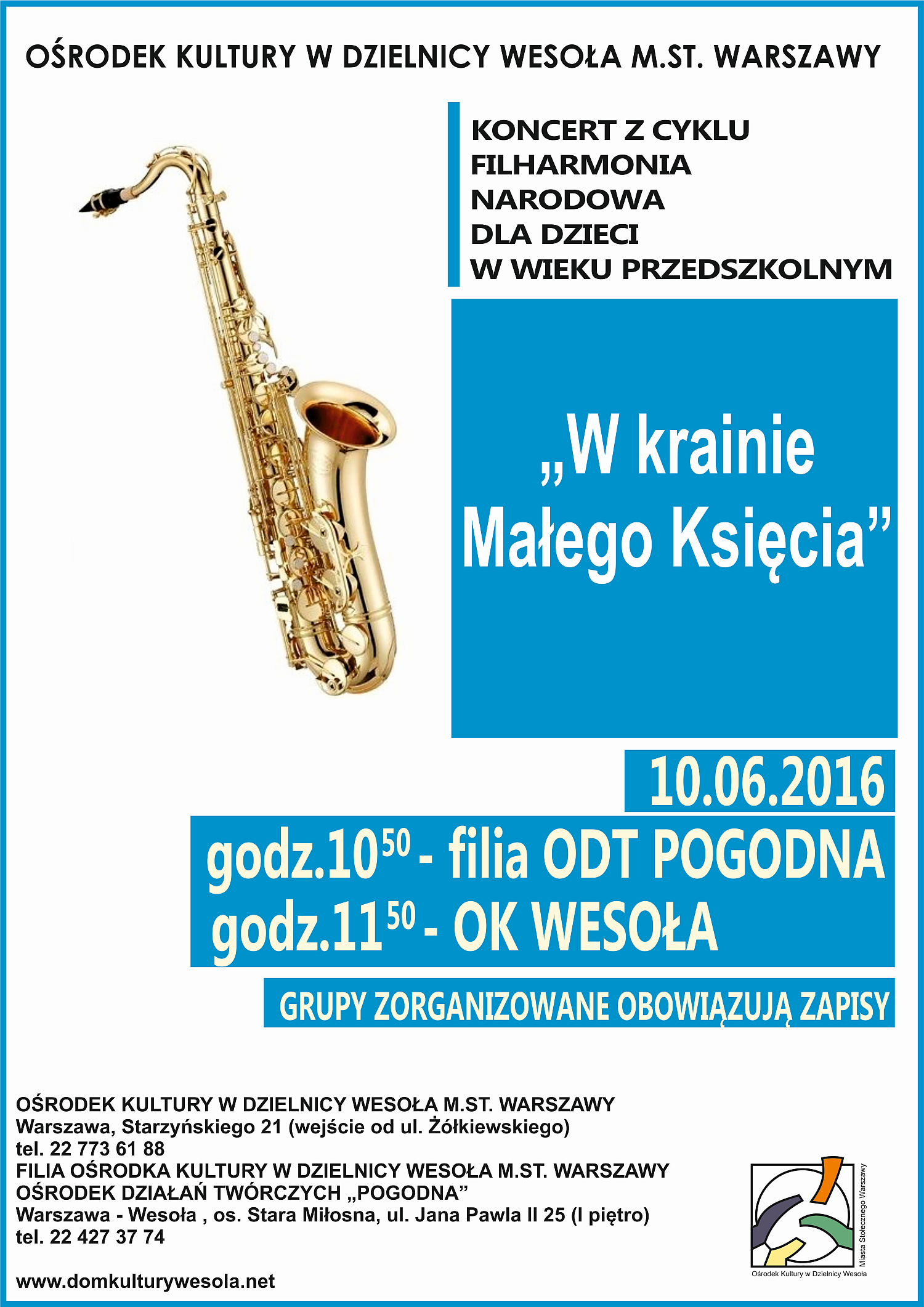 koncert dla dzieci w OK Wesołą