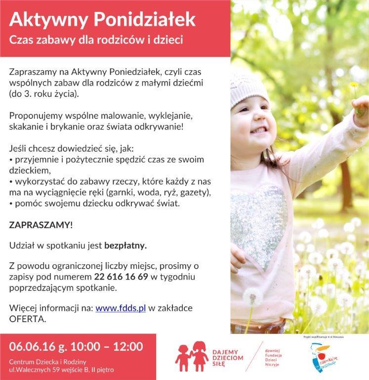 aktywny poniedziałek warsztaty dla dziec