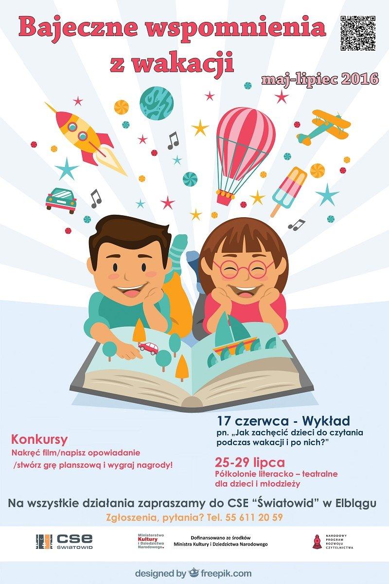 Idą wakacje! Zachęć dziecko do czytania! Wykład dla rodziców w Elblągu