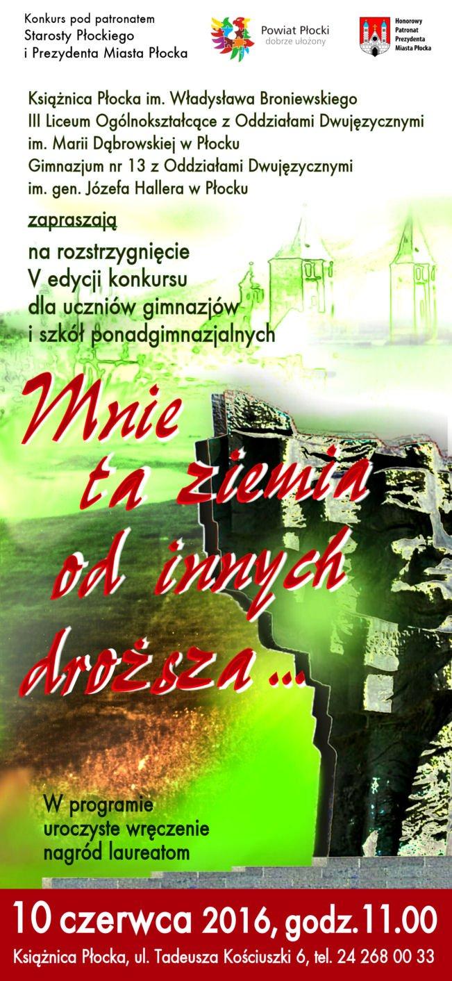 """""""Mnie ta ziemia od innych droższa…"""" - uroczystość w Płocku"""