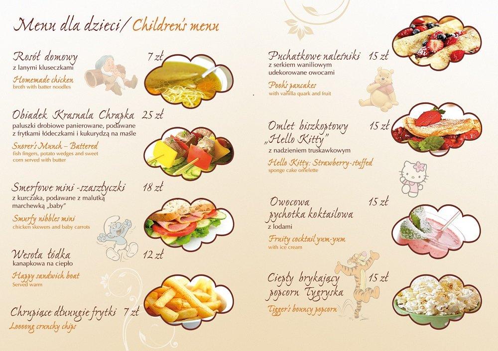 warsztaty menu dziecięce
