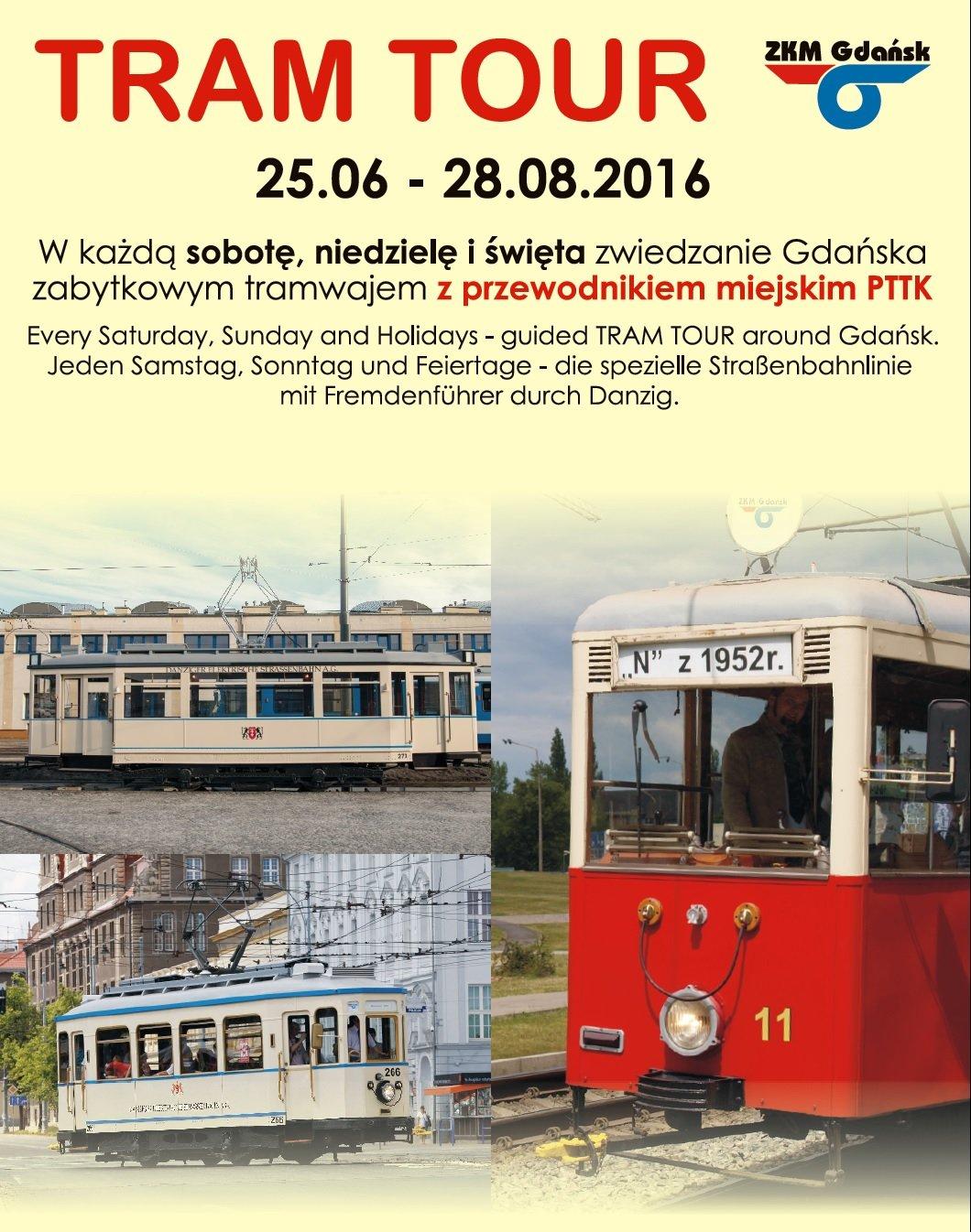 tram tour gdansk 2016 wakacje lato