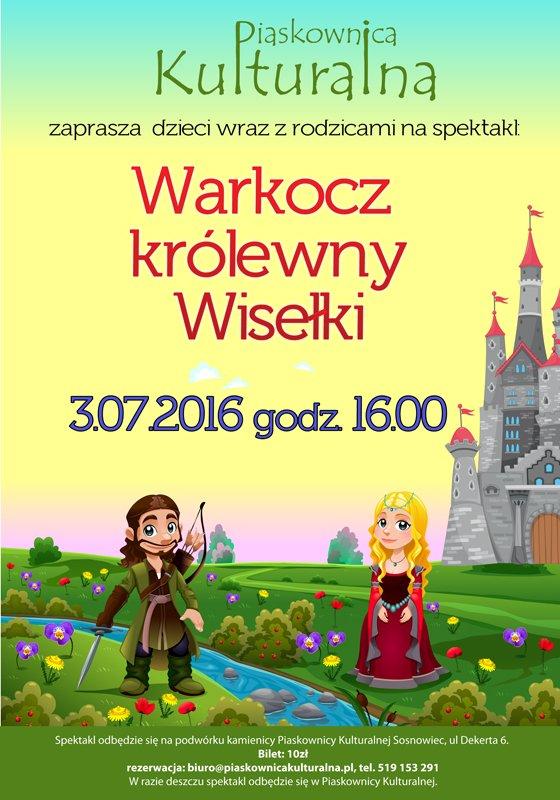 Warkocz Królewny Wisełki Spektakl dla dzieci w Sosnowcu