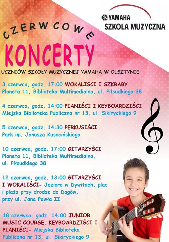 Koncerty Szkoły Muzycznej Yamaha w Olsztynie