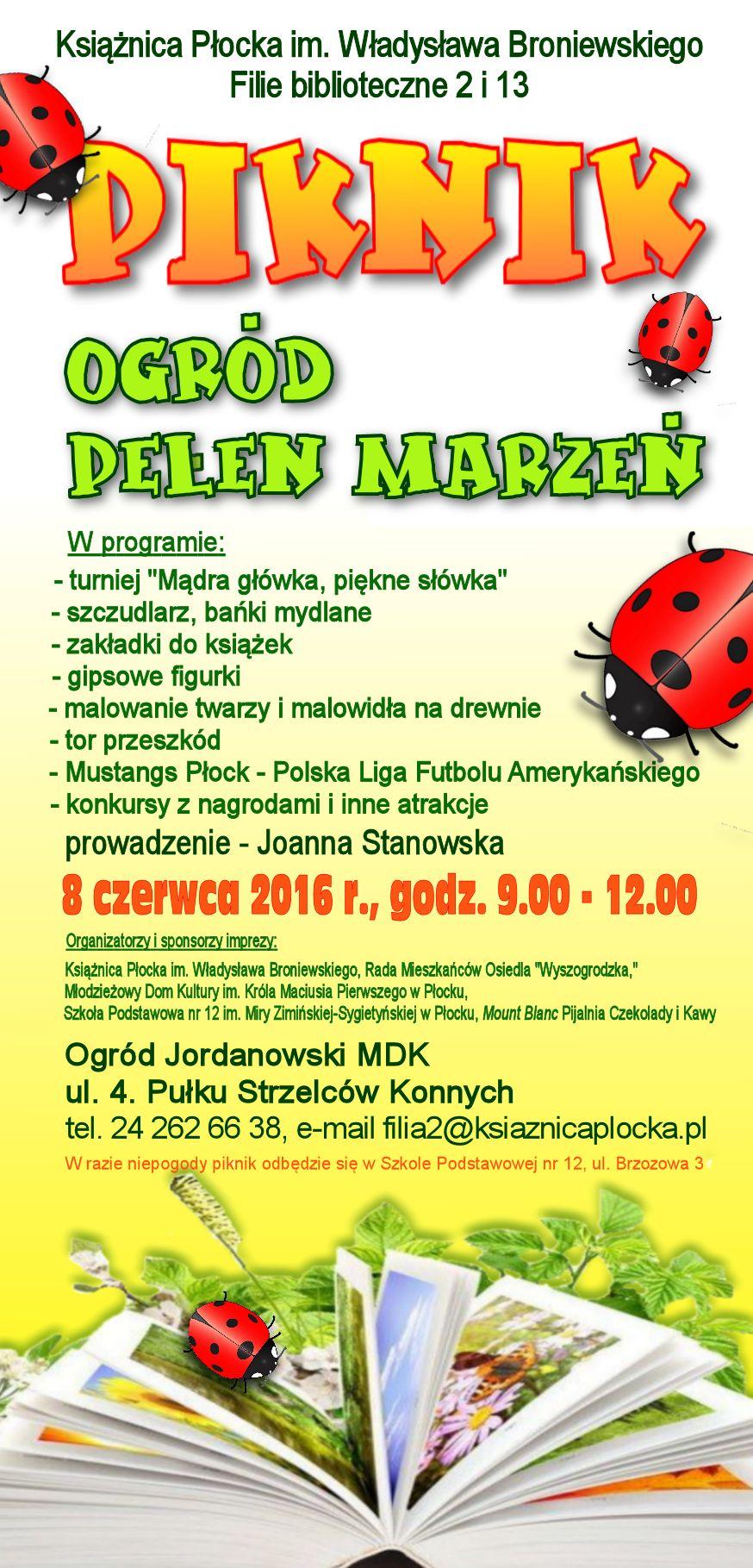 rodzinny piknik literacki w Płocku
