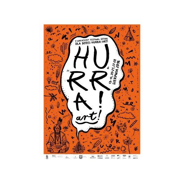 Plakat festiwalu Hurra Art Kubuś Kielce