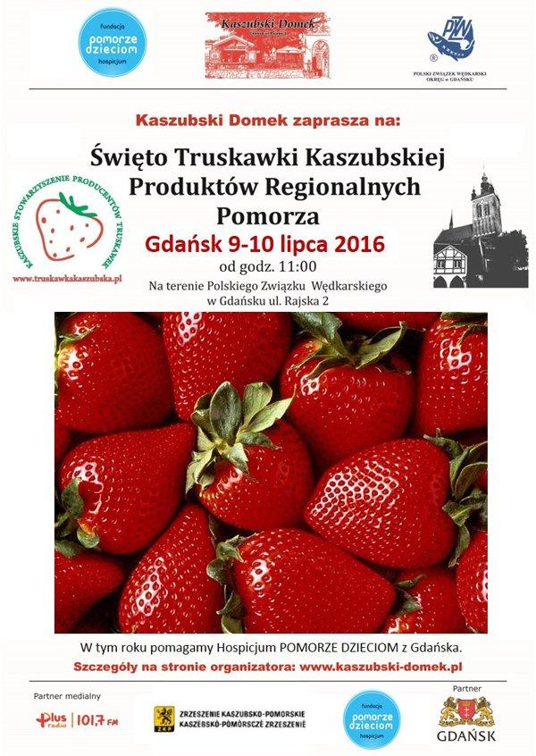 Plakat - IV Święto Truskawki Kaszubskiej w Gdańsku