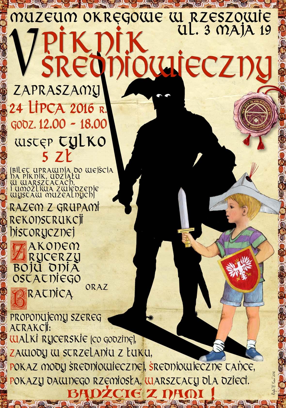piknik średniowiecze plakat 2016