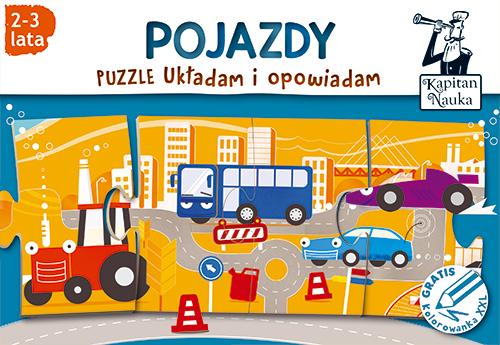 Puzzle dla małych dzieci pojazdy
