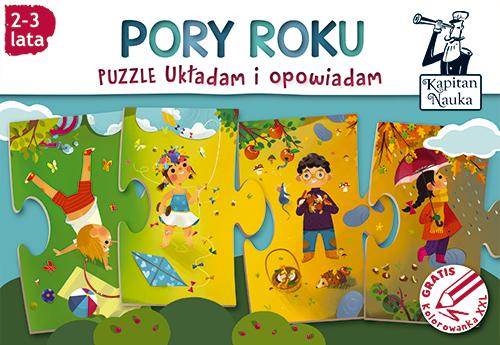 Puzzle pory roku dla małych dzieci