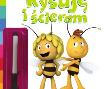 Rysuje i scieram książka z pszczółką mają