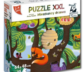 Miszkańcy lasu puzzle xxl
