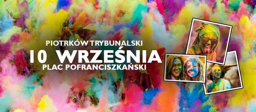 Święto Kolorów Piotrków plakat