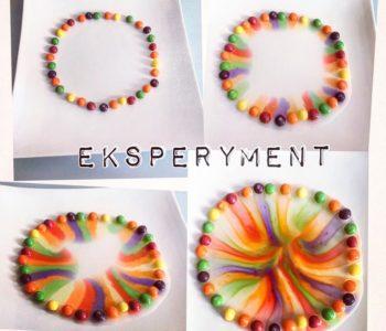 Tęcza z cukierków Skittles – kolorowy eksperyment