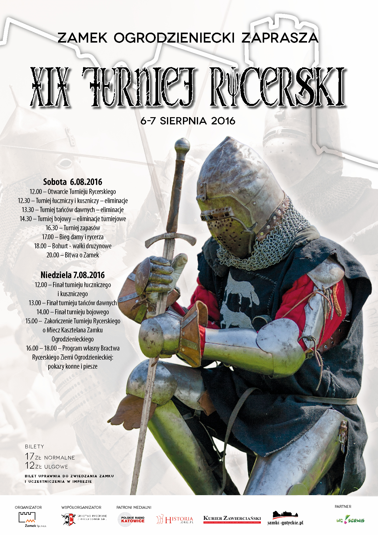 Turniej Rycerski w Ogrodzieńcu plakat